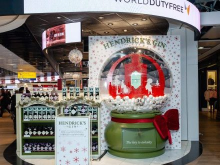 Hendrick?s Gin Entertains Passengers With Animated Snow Globe At Heathrow photo