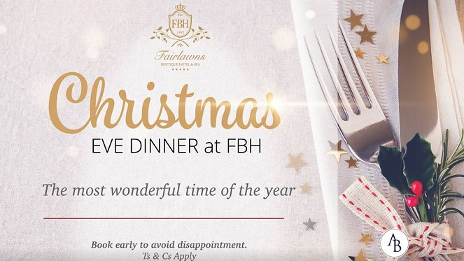 Christmas Eve Dinner At Fairlawns Boutique Hotel photo