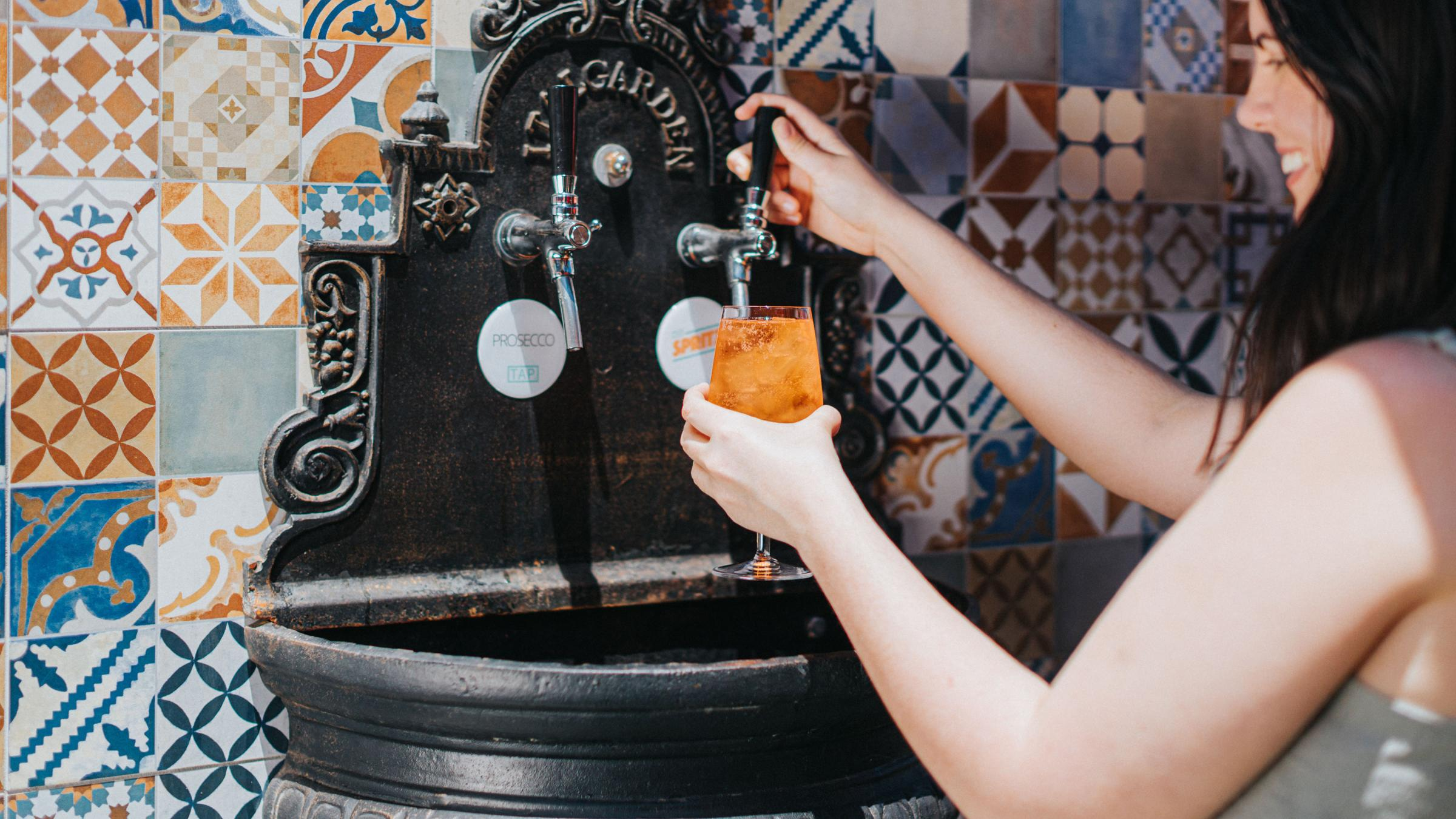This Sydney Restaurant Has A Bottomless Prosecco And Aperol Spritz Fountain photo