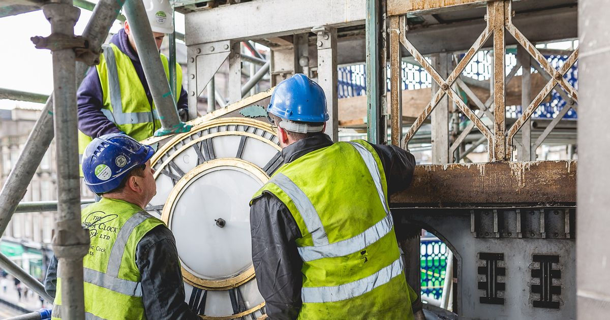 Famous Princes Street Clock Being Restored As Part Of Johnnie Walker Project photo