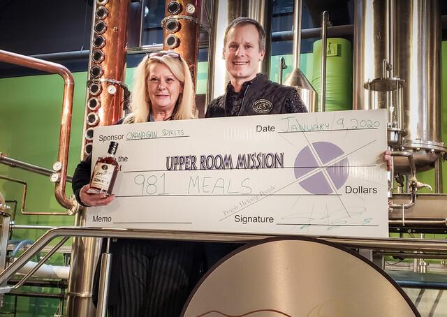 Okanagan Spirits Donates Almost 1000 Meals To The Homeless photo
