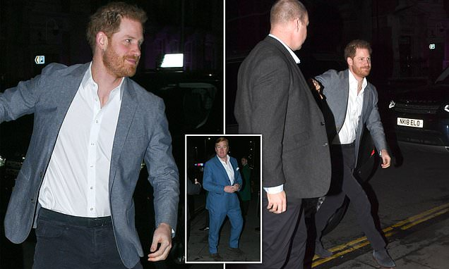 Leaving Drinks? Prince Harry Is Spotted For First Time Since Megxit photo