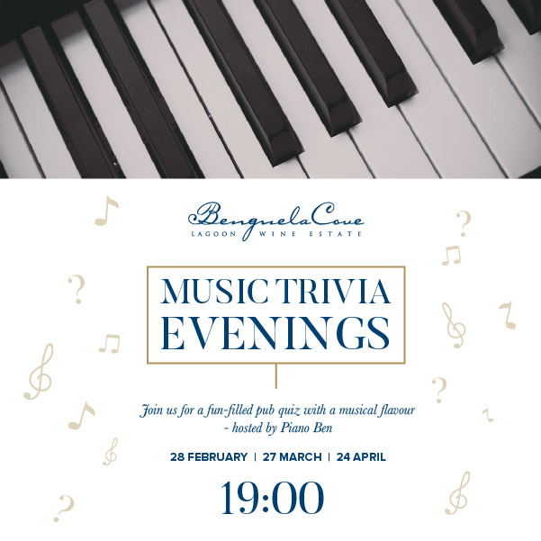 Music Trivia Evenings At Benguela Cove photo