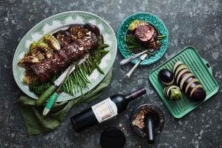 Recipe: Rolled Beef Fillet With Balsamic And Red Wine Reduction photo