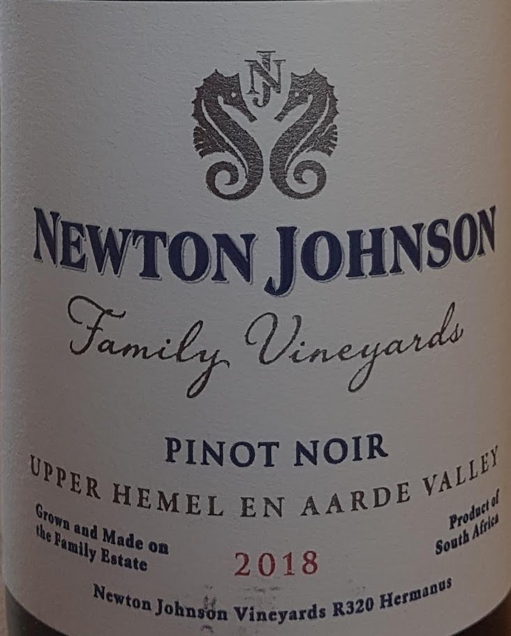 Newton Johnson Family Vineyards Pinot Noir 2018 photo