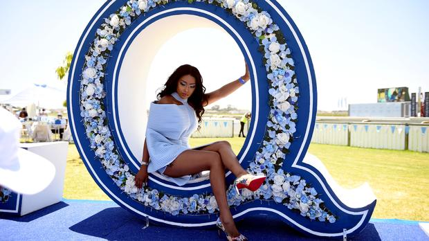 Pics: Sa Celebs Dress In Their Blue And White Best For L'ormarins Queen's Plate photo
