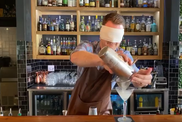 South African Bartenders Challenge Each Other To Make Cocktails While Blindfolded photo