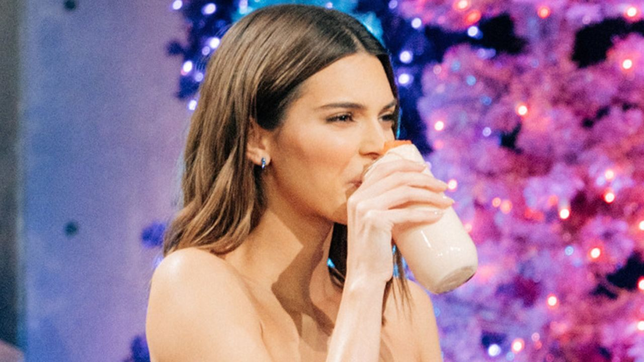 Kendall Jenner Drinks Newage Beverages. But what does it mean? photo
