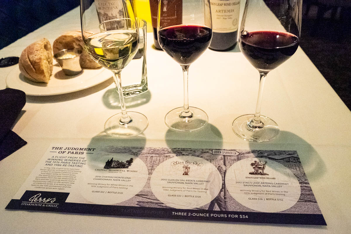 Special Wine Flight At Perry's Steakhouse & Grille Is A Taste Of History photo