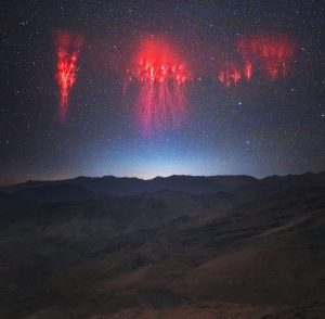 Red Sprites Over The Andes photo