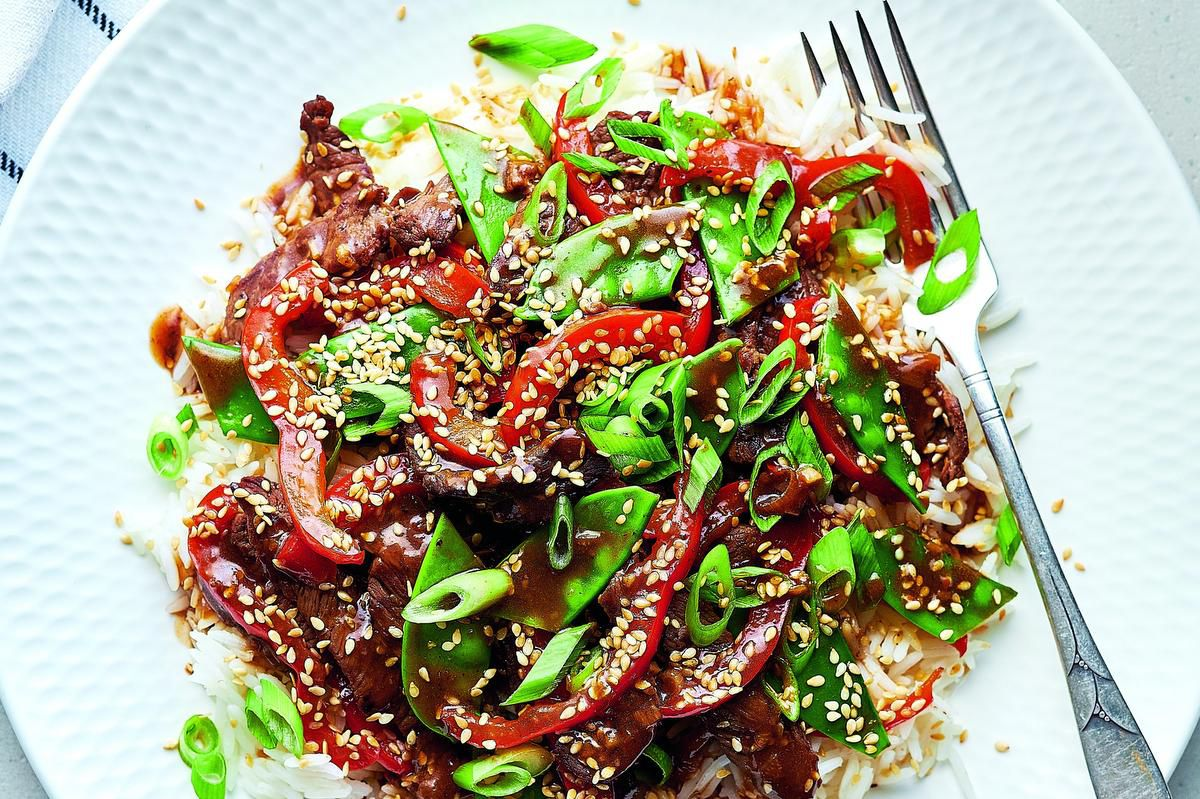 Sesame Beef Stir-fry With Snow Peas photo