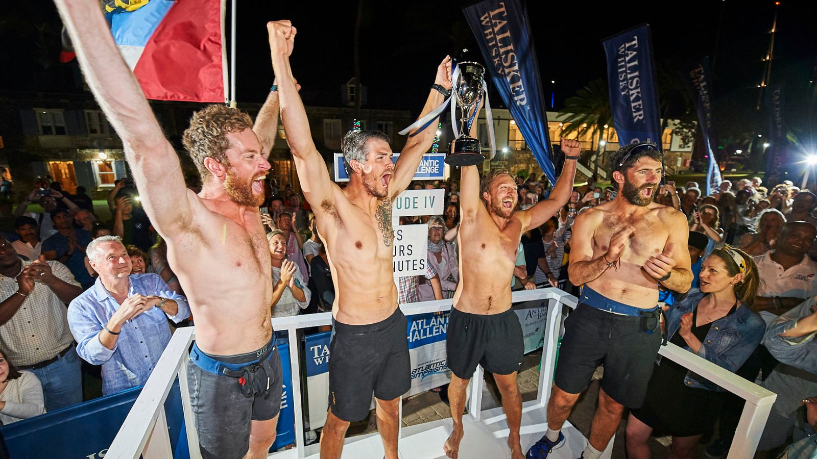 British Friends Battle Giant Waves To Win 3,000-mile Atlantic Rowing Race photo
