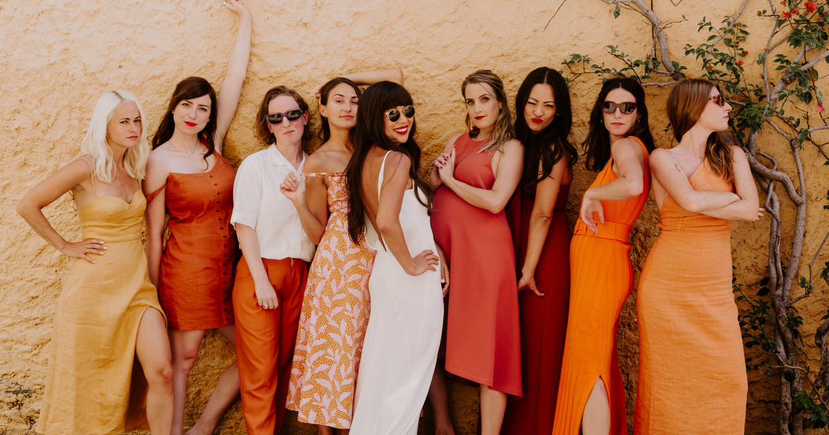 A Wedding Where The Color Scheme Was Aperol Spritz photo