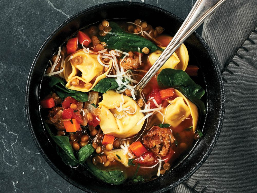 Six O'clock Solution: Stay Warm All Over With Tortellini Soup photo