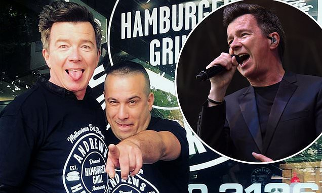 Rick Astley Enjoys A Burger In Melbourne During A Break From Touring photo