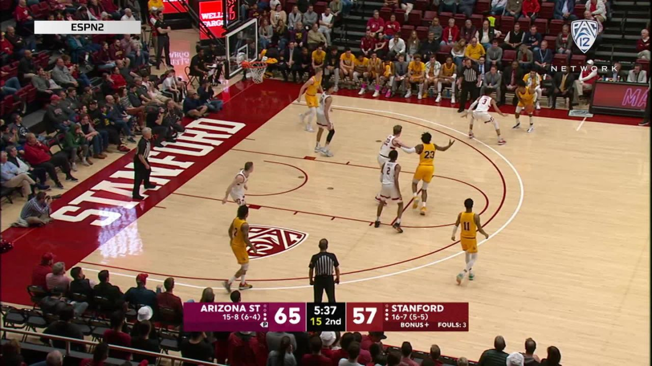 Highlights: Remy Martin Hits Clutch Bucket Late To Seal Asu Men's Basketball Win Over Stanford photo