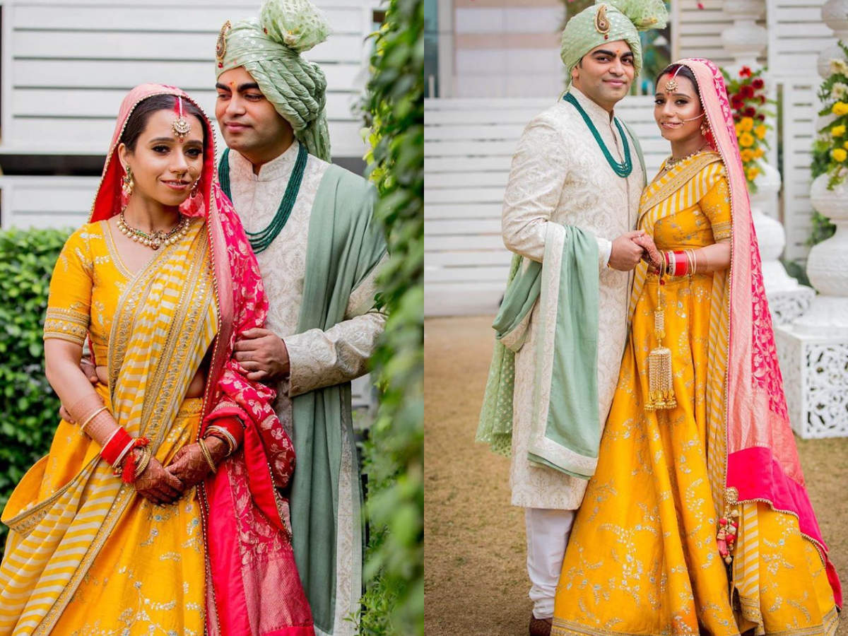 This Pretty Bride From Lucknow Proved Yellow Is The Lehenga Colour Of The Season photo