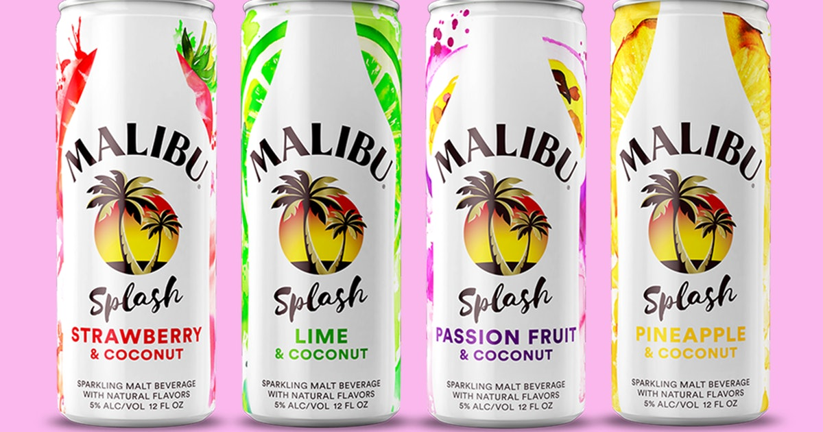Malibu Rum's New Line Of Canned Cocktails Is Basically Summer In A Can photo