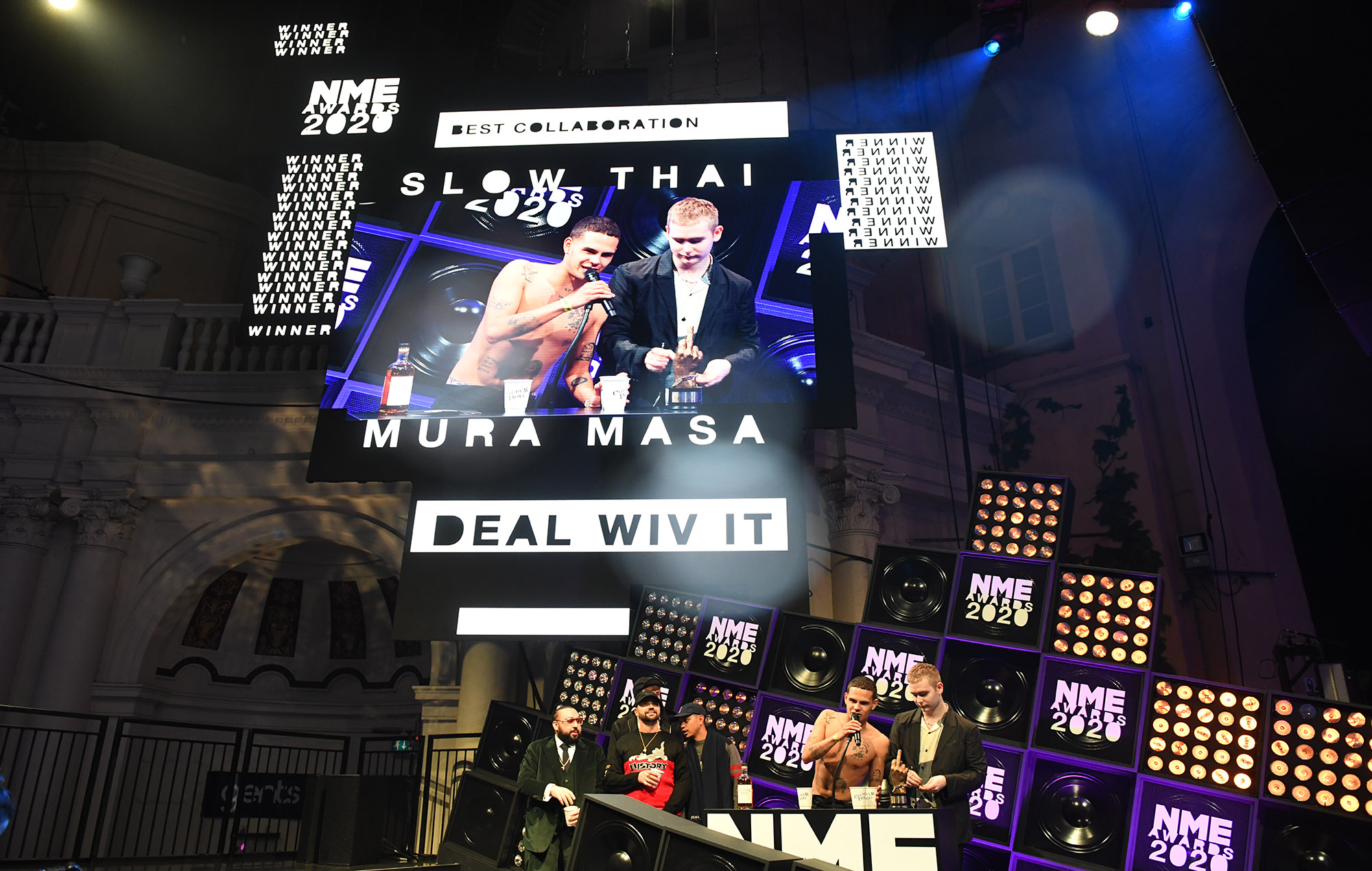 Slowthai & Mura Masa Win Best Collaboration Supported By Brixton Brewery At Nme Awards 2020 photo