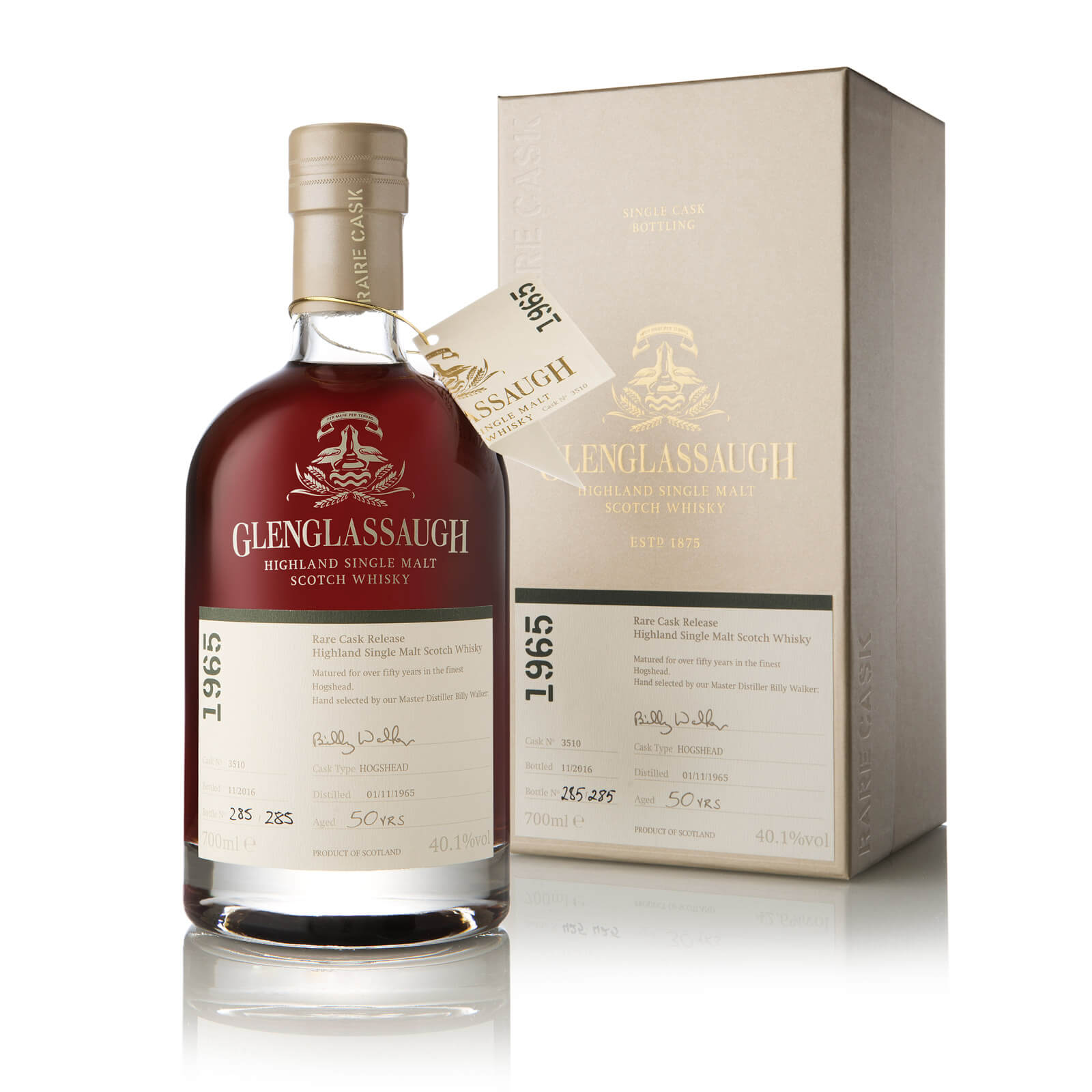 Glenglassaugh Rare Cask Release Batch 3 Whisky, Cask #3510: A 50-year-old Treasure From 1965 photo
