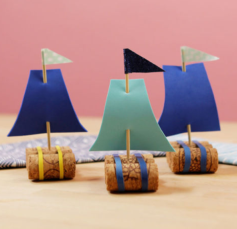 How To Make Adorable Little Sailboats Out Of Wine Bottle Corks photo