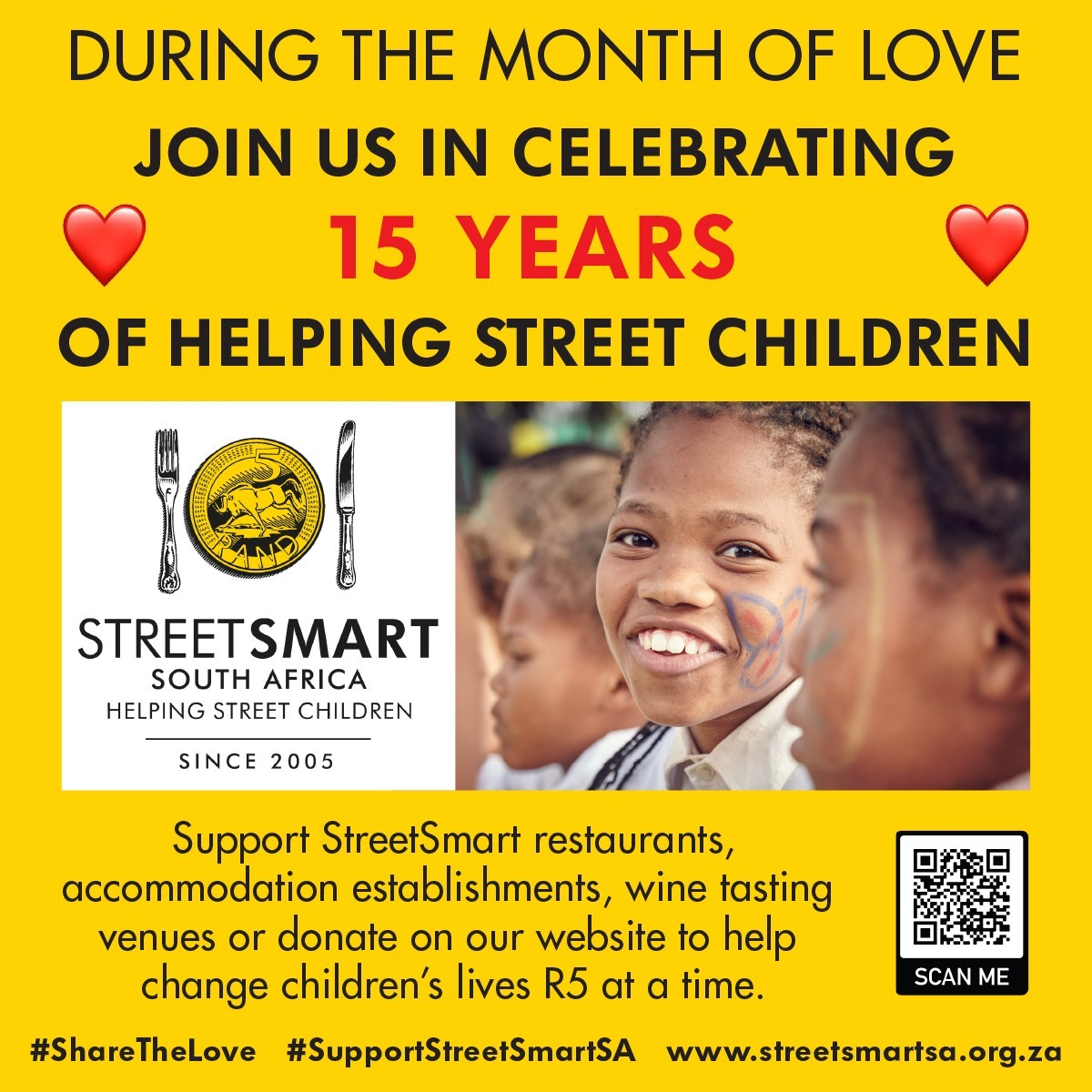 StreetSmart Celebrates 15 Years Of Changing Children's Lives R5 At A Time photo