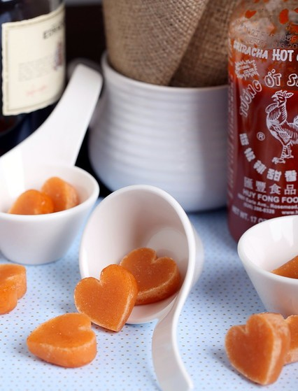 Spice Up Your Valentine's Day with These Heart-Shaped Whisky Sriracha Candies photo