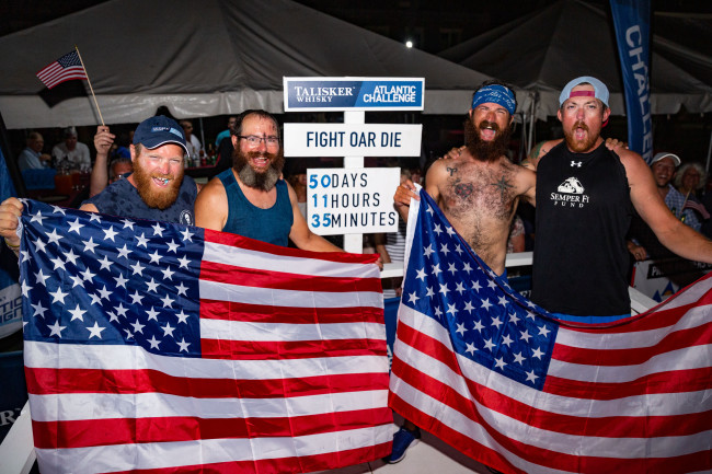 A Team Of American Veterans Has Triumphantly Rowed Across The Ocean After 50 Days At Sea photo