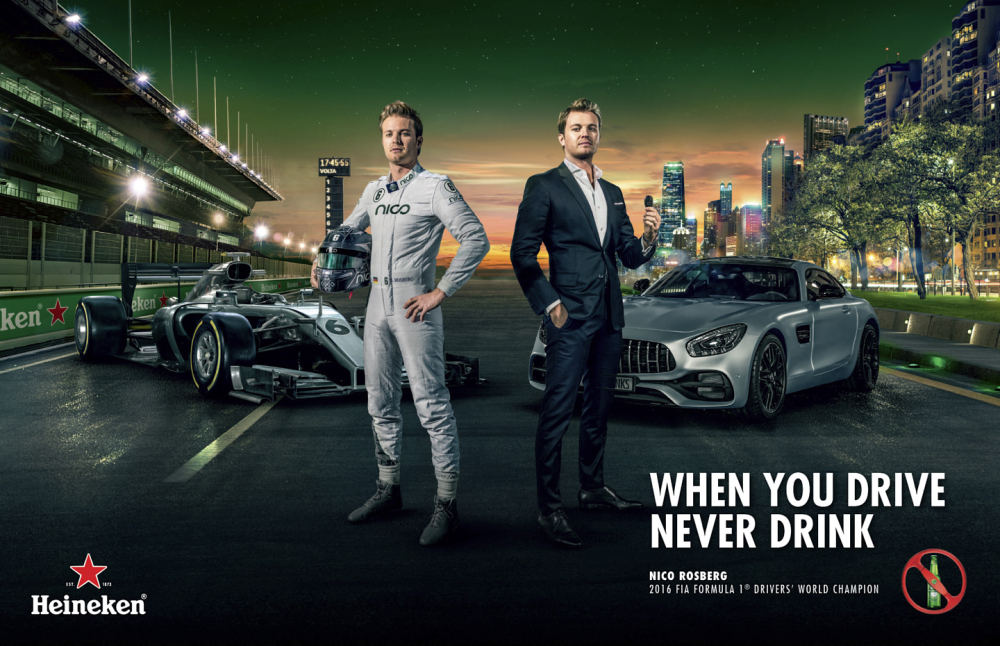 Heineken Launches Anti-Drink-Drive Campaign With Former Formula 1 Motor Racing Champions photo