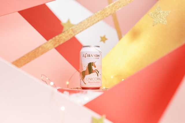 14 Hands Winery Launches Limited Edition Rosé Bubbles In A Unicorn Can photo
