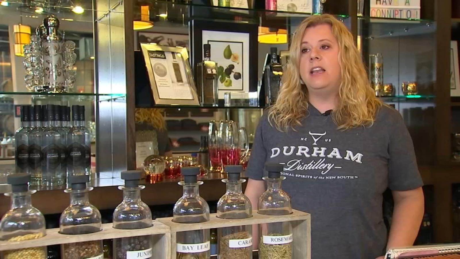 Durham Distillery Using Alcohol To Make Free Hand Sanitizer For Local Restaurants During Coronavirus Pandemic photo