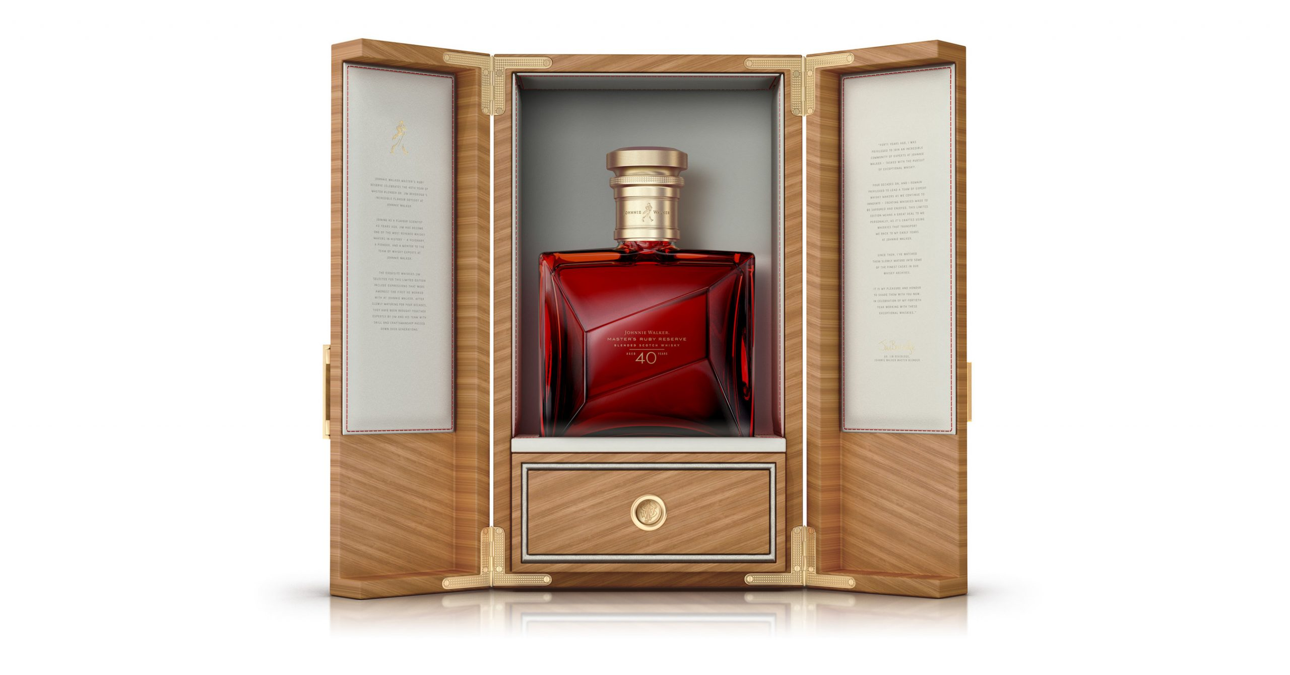 Introducing Johnnie Walker Master's Ruby Reserve: Extremely Limited Edition Whisky Celebrating Master Blender Jim Beveridge's 40th Anniversary photo