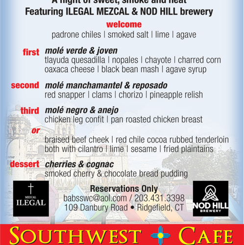 Southwest Cafe Joins Forces With Nod Hill Brewery For Ilegal Mezcal Dinner On March 16 photo