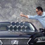 Lexus Recreates Iconic Champagne Glass Ad For 30th Birthday photo