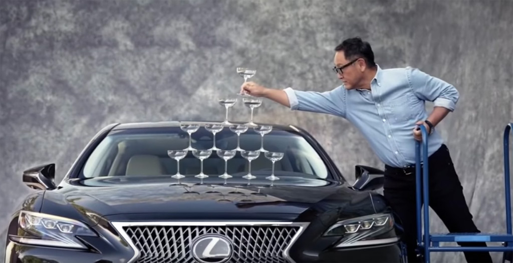 Lexus Recreates Iconic Champagne Glass Ad For 30th Birthday photo