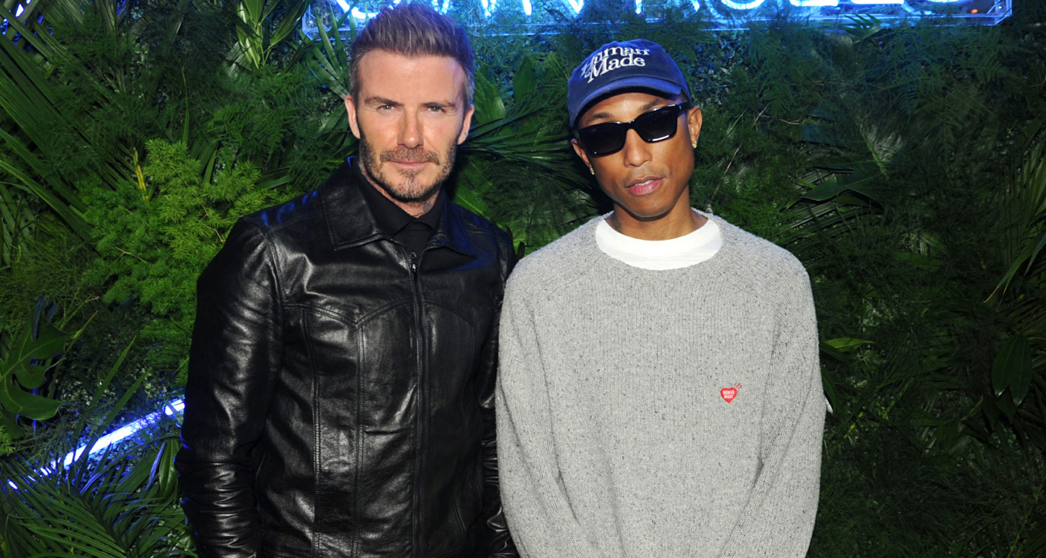 David Beckham Gets Support From Pharrell Williams At Haig Club Party In Miami! photo