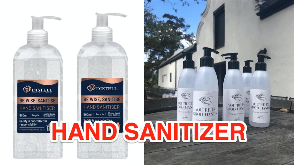 Instead Of Savanna And Klipdrift, Some Local Distilleries Are Now Making Hand Sanitiser photo