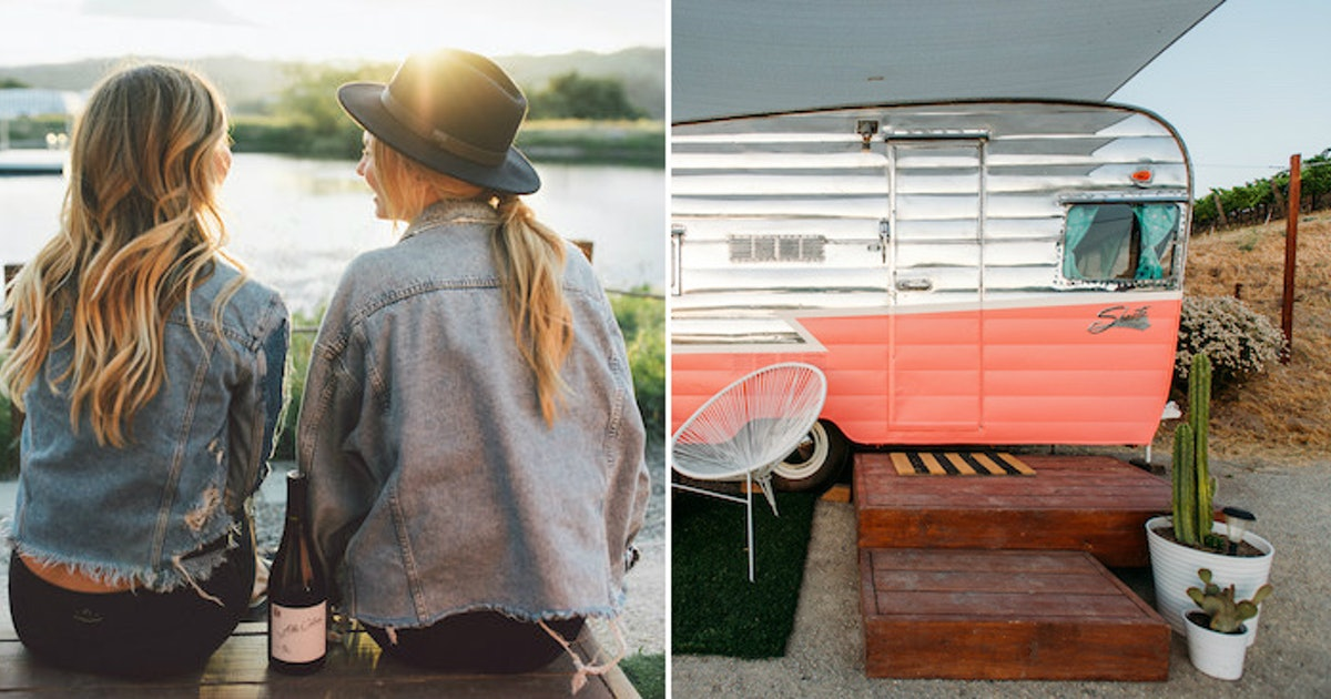 Wine Not Camp Out At This Vineyard In One Of Their Vintage Trailers? photo