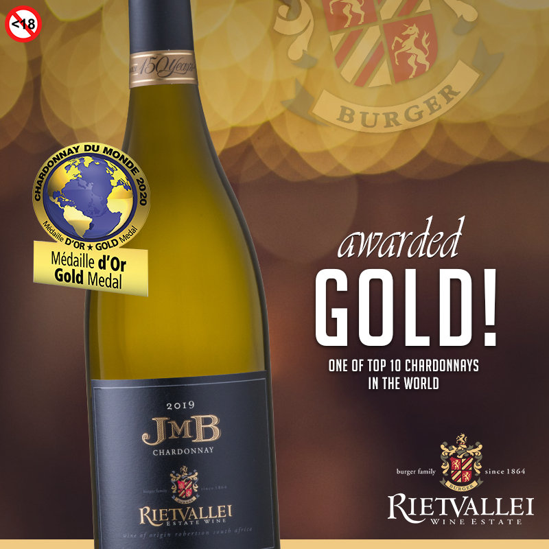 Rietvallei 2019 JMB Chardonnay Is One Of The Top 10 Chardonnays In The World! photo