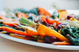 Recipe: Roasted Vegetable Salad With Garlic Dressing photo
