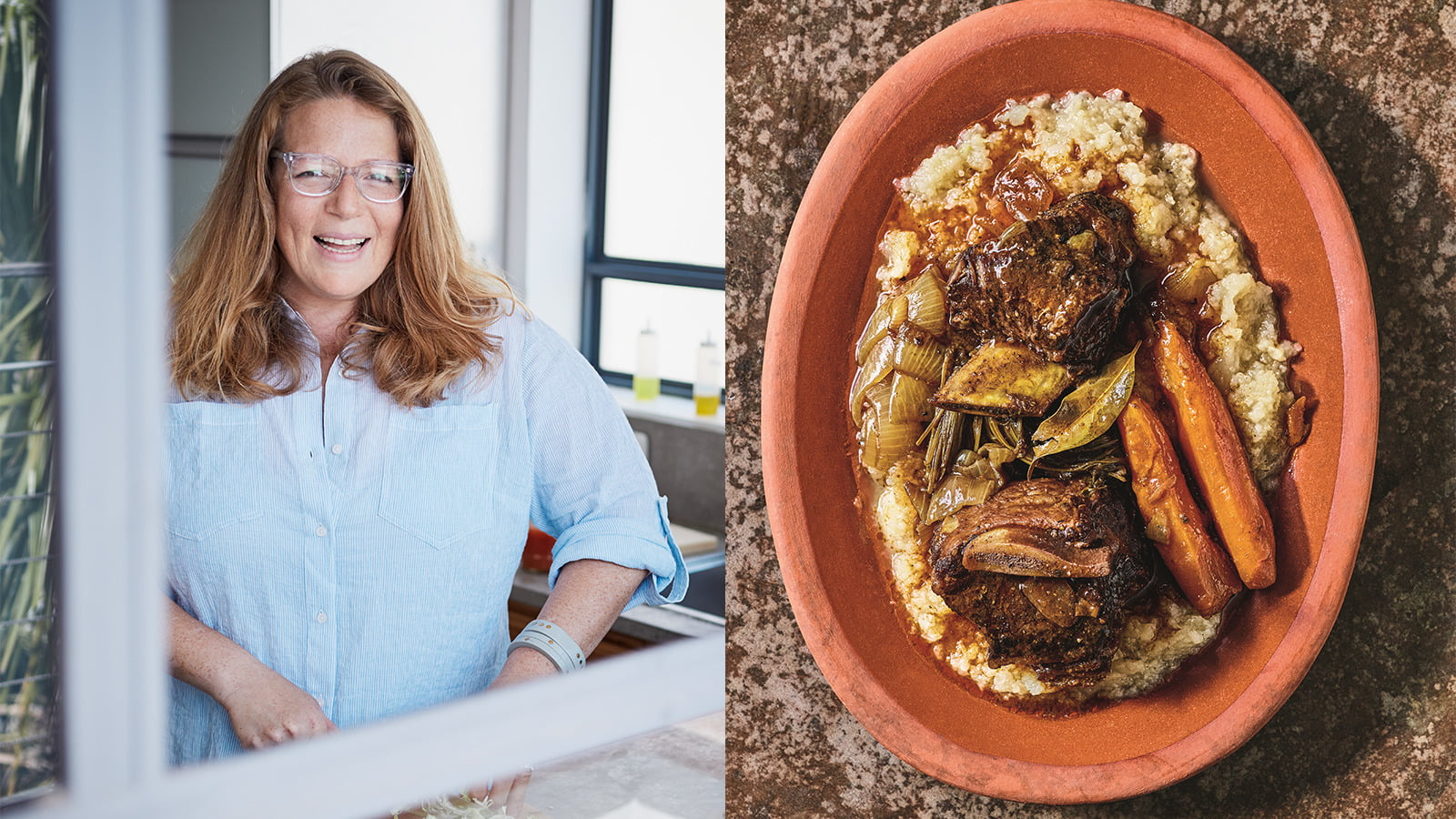 Adeena Sussman's Passover-friendly Braised Short Ribs With Roasted Kohlrabi Mash photo
