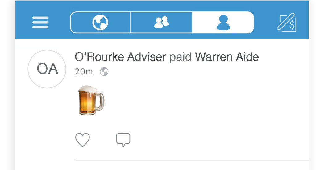 Their Campaign Jobs Just Dried Up. And On Venmo, The Drinks Are Flowing. photo
