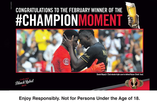Carling Black Label Champion Moment photo