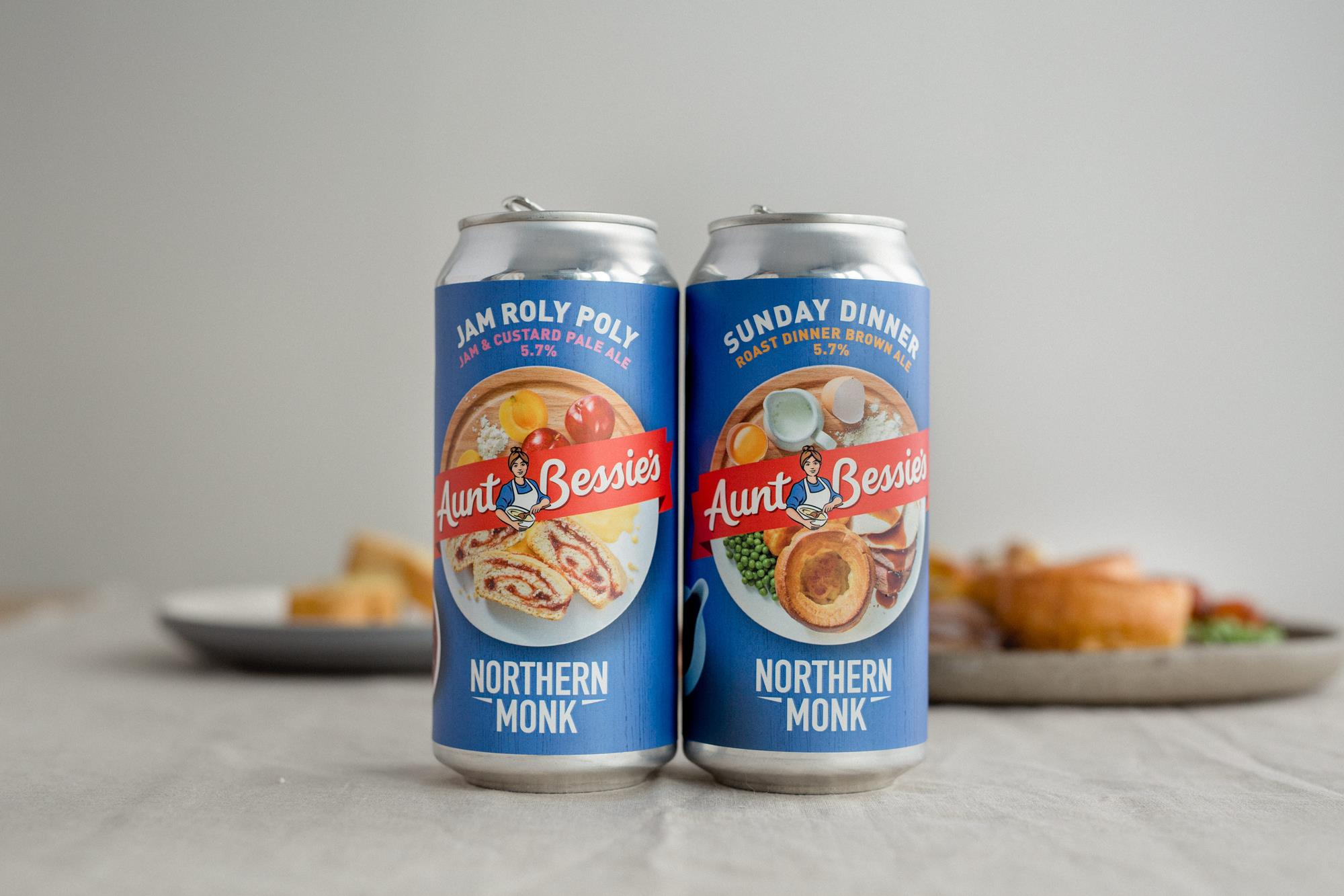 Northern Monk And Aunt Bessie's Team Up For 'roast Dinner' Beer Duo photo