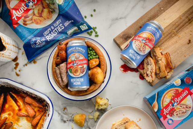"""Northern Monk And Aunt Bessie's Team Up For """"uk's First Two-course Roast Dinner Beers"""" photo"""