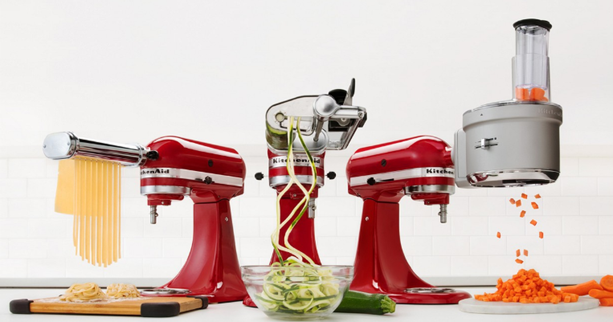 Tired Of Baking? Enjoy More Options With Kitchenaid Stand Mixer Attachments On Sale. photo
