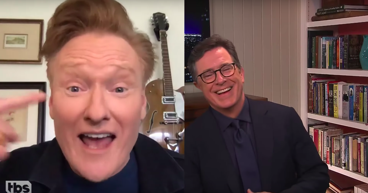 Stephen Colbert And Conan O'brien Get Real On Video Chat About How Much They Miss Live Audiences photo