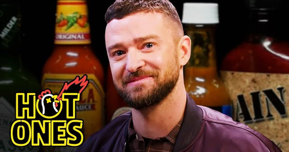 Justin Timberlake Struggles Through Spicy Wings And Ranks His Own Albums On 'hot Ones' photo