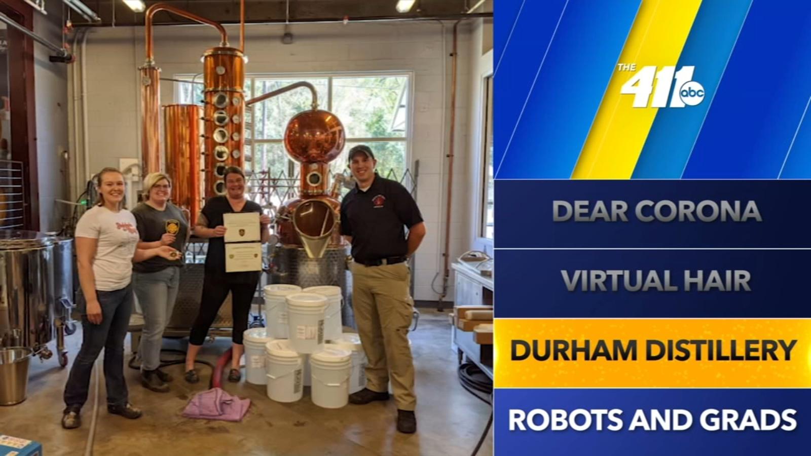 The 411: Durham Distillery Donating Hand Sanitizer To Raleigh Fire Department photo