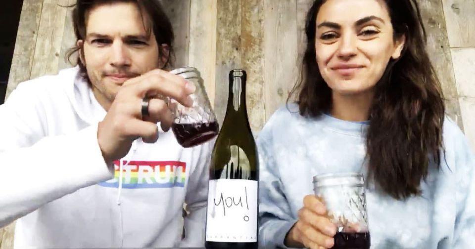 Watch: Ashton Kutcher And Mila Kunis Launch Own Quarantine Wine photo